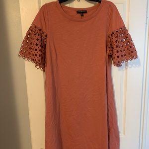Knee length rose color dress